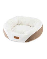 Large Oval Pet Bed - Brown