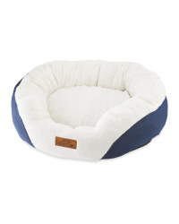 Large Oval Pet Bed - Navy