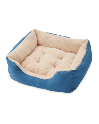 Large Plush Pet Bed - Blue