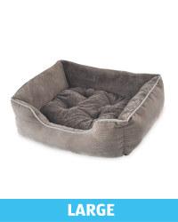 Large Plush Pet Bed - Grey