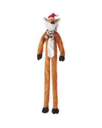 Large Plush Rope Fox Dog Toy