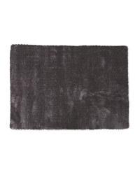 Dark Grey Large Luxury Shaggy Rug