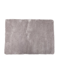 Light Grey Large Luxury Shaggy Rug
