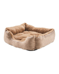 Large Tan Plush Pet Bed