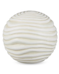 Large Wave Garden Ball Ornament