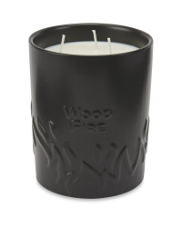 Large Wood Fire Ceramic Candle