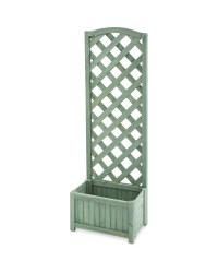 Gardenline Lattice Wooden Planter - Green