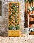Gardenline Lattice Wooden Planter - Natural