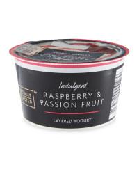 Layered Raspberry Yogurt