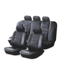 AutoXS Leather Look Car Seat Covers