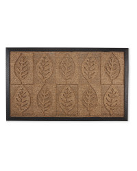 Leaves Design Doorguard Mat - Biscuit