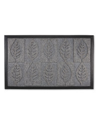 Leaves Design Doorguard Mat - Light Grey