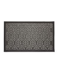 Leaves Grey Doorguard Mat