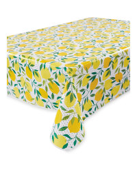 Lemon Printed PVC Tablecloth