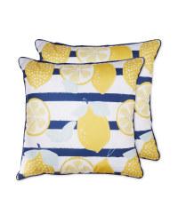 Lemons Outdoor Cushion 2 Pack