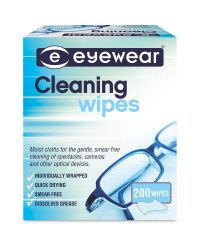 Lens Cleaning Wipes 200 Pack