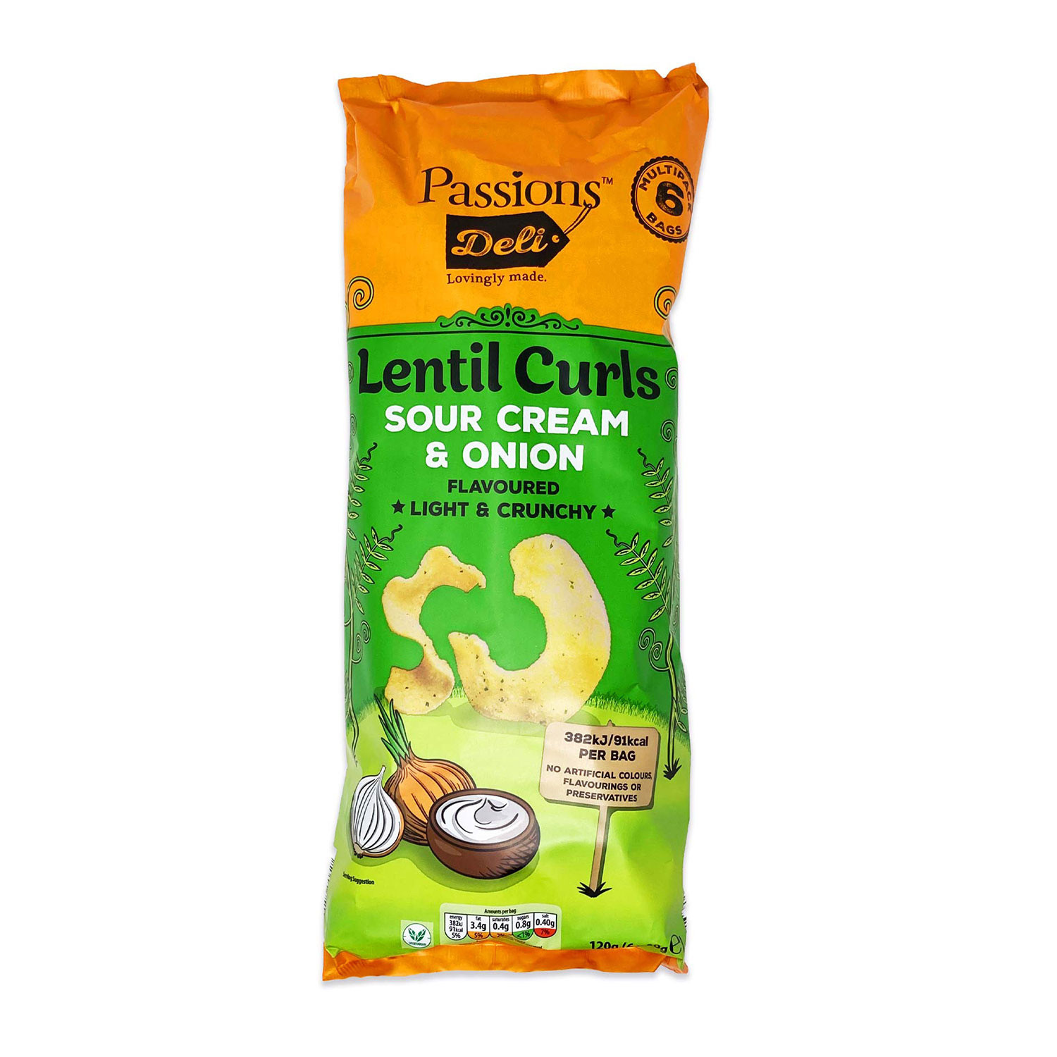 Lentil Curls Sour Cream & Onion