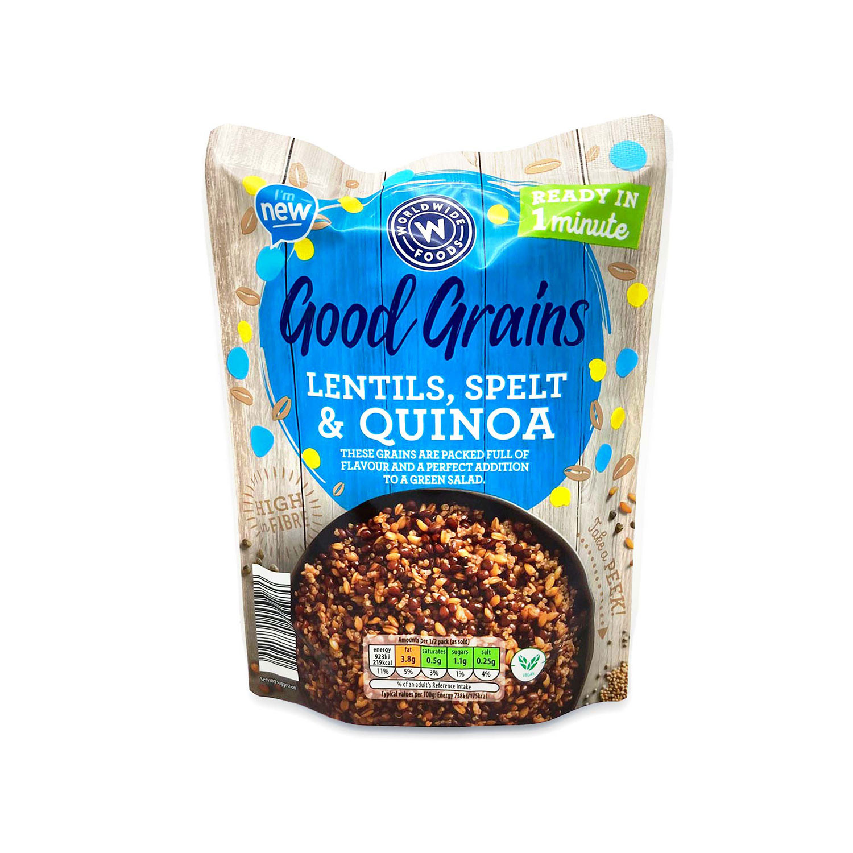 Lentils, Spelt and Quinoa