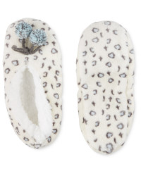 Avenue Leopard Slipper Socks