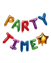 Party Time Letters Foil Balloons