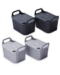 Strata Lidded Baskets 2 Pack
