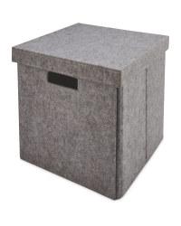 Light Grey Felt Storage Cube
