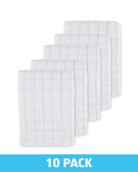 Light Grey Terry Tea Towels 10 Pack