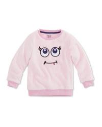 Light Pink Kids Teddy Fleece Jumper