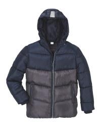 Lily & Dan Black/Grey Winter Jacket
