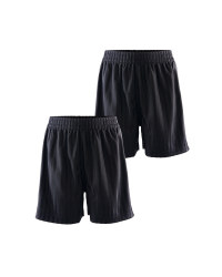 Lily & Dan Boy's PE Shorts 2-Pk - Black