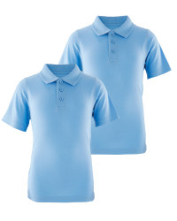 Lily & Dan Boys' Polo Shirt 2-Pack - Blue