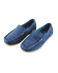 Lily & Dan Boys' Blue Loafers
