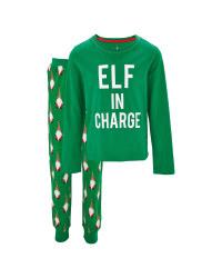 Lily & Dan Elf in Charge Pyjamas