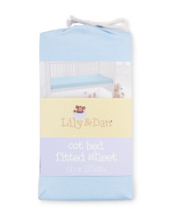 Lily & Dan Fitted Cot Bed Sheet - Blue