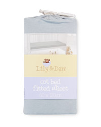 Lily & Dan Fitted Cot Bed Sheet - Grey