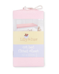Lily & Dan Fitted Cot Bed Sheet - Pink