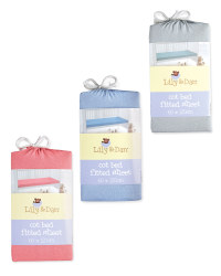 Lily & Dan Fitted Jersey Cot Sheet