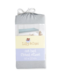 Lily & Dan Fitted Jersey Cot Sheet - Grey