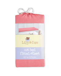 Lily & Dan Fitted Jersey Cot Sheet - Pink