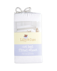 Lily & Dan Fitted Jersey Cot Sheet - White