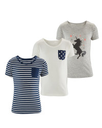 Lily & Dan Girl's T-Shirts 3-Pack