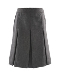 Lily & Dan Girls' Pleated Skirt - Grey