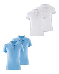 Lily & Dan Girls' Polo Shirts 2-Pack