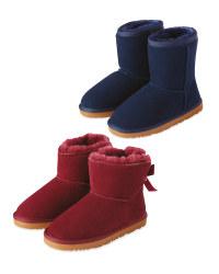 Girl's Lambskin Lined Boot