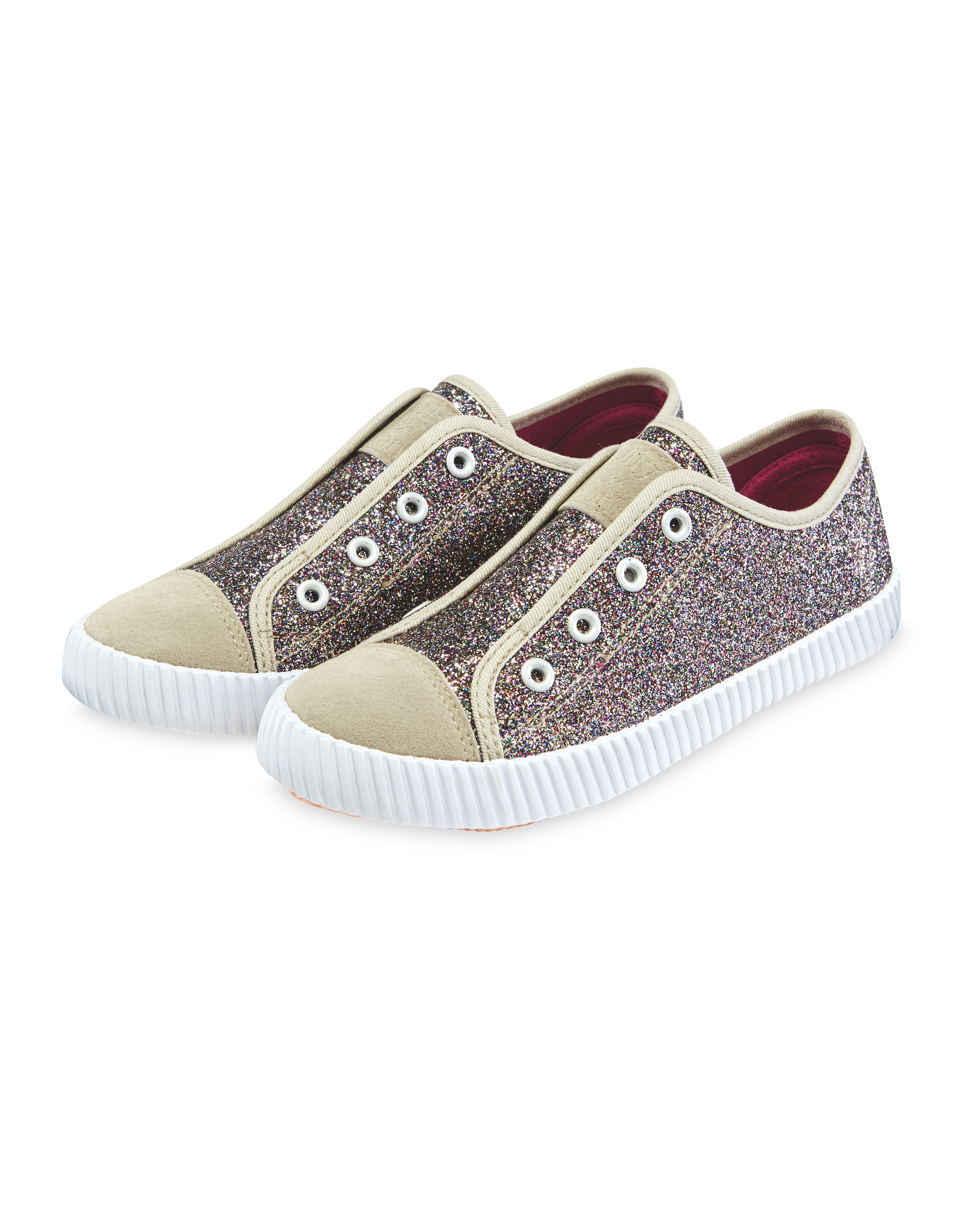 8be60c3fc1a29 Lily & Dan Glitter Pumps - ALDI UK