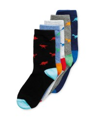 Lily & Dan Kids' Dino Socks 5 Pack