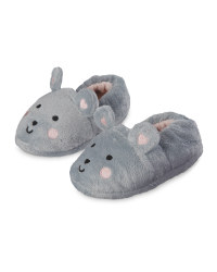 Lily & Dan Kids' Mouse Slippers