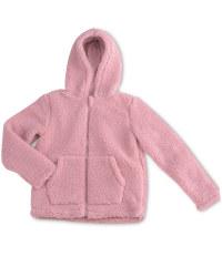 Lily & Dan Kids' Pink Borg Jacket