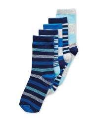 Lily & Dan Kids' Stripe Sock 5 Pack