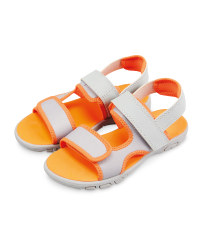 Lily & Dan Kids' Trekking Sandals - Grey/Orange
